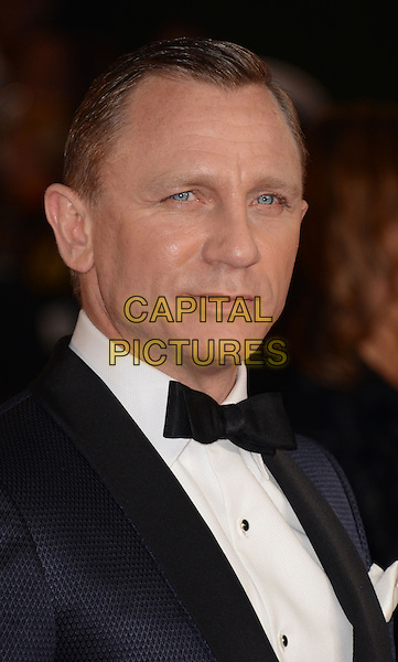 Daniel Craig .Royal World Premiere of 'Skyfall' held at the Royal Albert Hall, London, England..October 23rd, 2012.headshot portrait black white shirt tuxedo bow tie .CAP/WIZ.© Wizard/Capital Pictures.