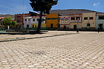 South America, Bolivia, Calamarca. The plaza of Calamarca.