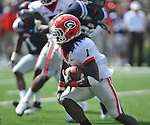 Georgia running back Isaiah Crowell (1) runs against Ole Miss at Vaught-Hemingway Stadium in Oxford, Miss. on Saturday, September 24, 2011. Georgia won 27-13.
