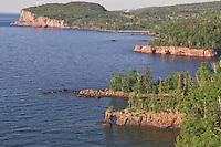Lake Superior shoreline at Tettegouche State Park in northern Minnesota.