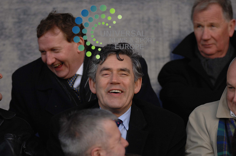Gordon Brown pictured at the match between Raith Rovers and Alloa - Former Prime Minister Gordon Brown is preparing to announce that he will stand down from parliament in 2015.<br />
