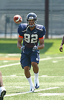 Virginia's Kevin Royal during open spring practice for the Virginia Cavaliers football team August 7, 2009 at the University of Virginia in Charlottesville, VA. Photo/Andrew Shurtleff