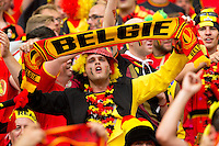 A colourful Belgium fan
