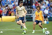 Chelsea F.C training at Busch Stadium, St Louis ahead of the friendly game verus Manchester City..Fernando Torres