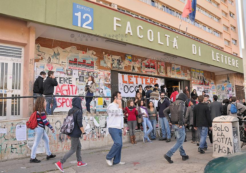 Palermo, faculty of literature and philosoohy occupied by the students.<br /> Palermo, facolt? di lettere e filosofia occupata dagli studenti