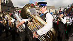 Langholm Common Riding 2016. Langholm Town Band leading the Procession through the town centre
