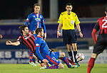 Inverness Caley Thistle v St Johnstone....20.01.15  SPFL<br /> Simon Lappin tackles Nick Ross<br /> Picture by Graeme Hart.<br /> Copyright Perthshire Picture Agency<br /> Tel: 01738 623350  Mobile: 07990 594431