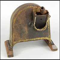 BNPS.co.uk (01202 558833)<br /> Pic: Golding,Young&amp;Mawer/BNPS<br /> <br /> A rare 19thC vegetable or potato slicer.<br /> <br /> A collection of quirky 100-year-old kitchen gadgets designed to make life easier for the Mary Berry of Victorian days have emerged for sale.<br /> <br /> Long before Kenwood Chef and KitchenAid were the must-have items, these unusual tools - which include mincers, chopping devices and a butter churn - were the forerunners.<br /> <br /> Unlike their popular modern counterparts, many of the tools were too expensive for most people to buy and were not highly reliable and so are rarely found today.<br /> <br /> The 25 kitchen items, which date from the late 19th and early 20th century, are being sold by Golding, Young &amp; Mawer auctionhouse and are expected to fetch thousands of pounds.