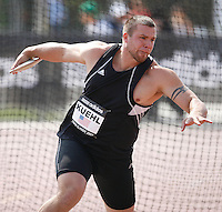 Adam Kuehl threw 60.64m in the discus throw at the Adidas Track Classic on Saturday May 16, 2009. Photo by Errol Anderson, The Sporting Image.net
