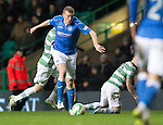 Celtic v St Johnstone.....04.03.15<br /> Brian Easton gets between Stefan Johansen and Leigh Griffiths<br /> Picture by Graeme Hart.<br /> Copyright Perthshire Picture Agency<br /> Tel: 01738 623350  Mobile: 07990 594431