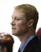 Greg Brown (BC - Assistant Coach) - The Northeastern University Huskies defeated the Boston College Eagles 3-2 on Friday, February 19, 2010, at Matthews Arena in Boston, Massachusetts.