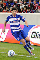 Heath Pearce (4) of FC Dallas. The New York Red Bulls defeated FC Dallas 2-1 during a Major League Soccer (MLS) match at Red Bull Arena in Harrison, NJ, on April 17, 2010.