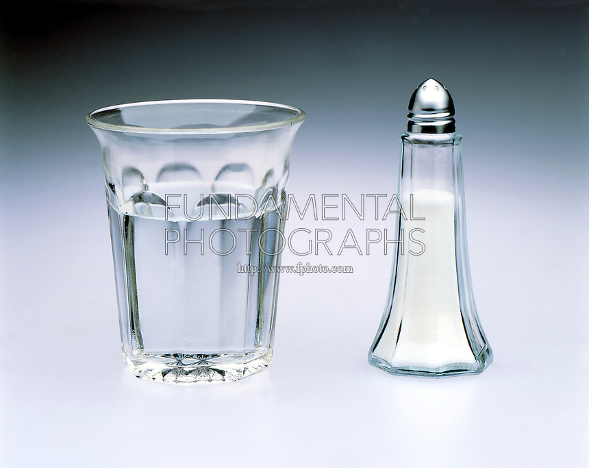 EXAMPLES OF COMPOUNDS<br /> Water In Glass, Salt In Shaker<br /> In these compounds there are two types of atoms in fixed proportions. (2:1 for water, 1:1 for Sodium Chloride).