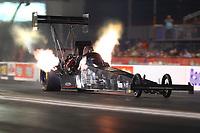 Apr 21, 2017; Baytown, TX, USA; NHRA top fuel driver Shawn Reed during qualifying for the Springnationals at Royal Purple Raceway. Mandatory Credit: Mark J. Rebilas-USA TODAY Sports