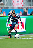 21 April 2012: Chicago Fire midfielder Sebastian Grazzini #10 in action during a game between the Chicago Fire and Toronto FC at BMO Field in Toronto..The Chicago Fire won 3-2....