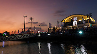 UAE. 4th January 2012. Volvo Ocean Race, Leg 2, arrival into Abu Dhabi. Arrivals ceremony. Volvo Ocean Race Village.