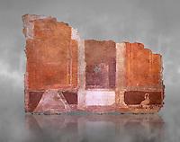 Roman fresco wall decorations of  Room E9, Rome. Museo Nazionale Romano, 130-140AD( National Roman Museum), Rome, Italy.