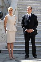 Prince Albert Of Monaco & Charlène receive Ban Ki-Moon - Monaco