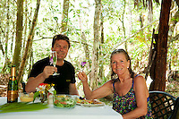 Mountain Pine Ridge, Cayo, Belize, March 2012. A romantic lunch with your own private waterfall and swimming hole.  Hidden Valley Inn, a Luxury Life Style hotel with only 12 rooms, is located on a 7200 acres private reserve in the Mountain Pine Ridge, Cayo District in Belize. Photo by Frits Meyst/Adventure4ever.com