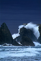 769550211 sea stacks and storm surf along bandon beach oregon