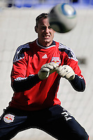 New York Red Bulls Greg Sutton (24) during a practice at Red Bull Arena in Harrison, NJ, on March 16, 2010.