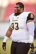 Tampa, FL - September 4th, 2016:Towson Tigers defensive lineman Max Tejada (93) during warm up's before game against USF at Raymond James Stadium in Tampa, FL.  (Photo by Phil Peters/Media Images International)