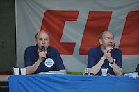 MASTKLIMMEN: AKKRUM: 06-07-2013, FK Mastklimmen, laatste optreden presentators Wim en Hans Anker, © Martin de Jong