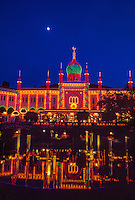 Twilight at Tivoli Gardens, Copenhagen, Denmark