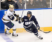 Ryan Guentzel (Notre Dame - 27), Phil DeSimone (UNH - 39) - The University of Notre Dame Fighting Irish defeated the University of New Hampshire Wildcats 2-1 in the NCAA Northeast Regional Final on Sunday, March 27, 2011, at Verizon Wireless Arena in Manchester, New Hampshire.