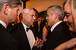 George Clooney talks with former Secretary of State Colin Powell at the Bloomberg Vanity Fair White House Correspondents' Association dinner afterparty at the residence of the French Ambassador on Saturday, April 28, 2012 in Washington, DC. Brendan Hoffman for the New York Times