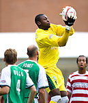 Yves Ma-Kalambay saves for Hibs