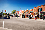 Town of Huntsville downtown Main street, Muskoka, Ontario, Canada 2016