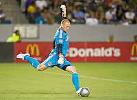CARSON, CA - September 1, 2012: LA Galaxy goalie Josh Saunders (12) during the LA Galaxy vs the Vancouver Whitecaps FC at the Home Depot Center in Carson, California. Final score LA Galaxy 2, Vancouver Whitecaps FC 0.