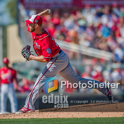 6 March 2016: Washington Nationals pitcher Nick Masset on the mound during a Spring Training pre-season game against the St. Louis Cardinals at Roger Dean Stadium in Jupiter, Florida. The Nationals defeated the Cardinals 5-2 in Grapefruit League play. Mandatory Credit: Ed Wolfstein Photo *** RAW (NEF) Image File Available ***