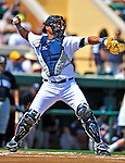 11 March 2009: Detroit Tigers' catcher Gerald Laird in action during a Spring Training game against the New York Yankees at Joker Marchant Stadium in Lakeland, Florida. The Tigers defeated the Yankees 7-4 in the Grapefruit League matchup. Mandatory Photo Credit: Ed Wolfstein Photo