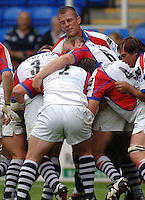 2005/06 Guinness Premiership Rugby, London Irish vs Bristol Rugby; Garth Llewellyn [facing] directs the push from the Bristol forwards.  Madejski Stadium, Reading, ENGLAND 24.09.2005   © Peter Spurrier/Intersport Images - email images@intersport-images..