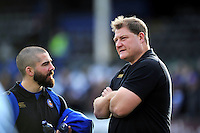 Bath Rugby first team coach Neal Hatley looks on during the pre-match warm-up. European Rugby Champions Cup match, between Bath Rugby and RC Toulon on January 23, 2016 at the Recreation Ground in Bath, England. Photo by: Patrick Khachfe / Onside Images