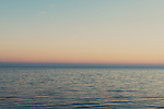 Sunset over the Mediterranean off the coast of Nice, France