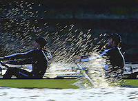 PUTNEY, LONDON, ENGLAND, 05.03.2006, Oxford vs USA Crew, Pre 2006 Boat Race Fixtures,.   © Peter Spurrier/Intersport-images.com.OUBC, Bow Robin Esjmond-Frey, No.2 Colin Smith, No.3 Jake Wetzel, No.4 Paul Daniels, No.5 James Schroeder. No.6 Barney Williams, No. 7 Tom Parker, stroke Bastien Ripoll, and cox Nick Brodie,..[Mandatory Credit Peter Spurrier/ Intersport Images] Varsity Boat Race, Rowing Course: River Thames, Championship course, Putney to Mortlake 4.25 Miles