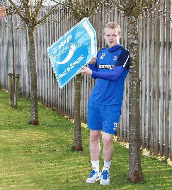Steven Naismith promoting the last ever Co-Operative Insurance Cup Final