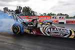 Jan. 17, 2012; Jupiter, FL, USA: NHRA top fuel dragster driver Shawn Langdon during testing at the PRO Winter Warmup at Palm Beach International Raceway. Mandatory Credit: Mark J. Rebilas-