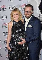 LOS ANGELES, CA. November 11, 2016: Actress Alison Pill &amp; husband actor Joshua Leonard at premiere of &quot;Miss Sloane&quot;, part of the AFI Fest 2016, at the TCL Chinese Theatre, Hollywood.<br /> Picture: Paul Smith/Featureflash/SilverHub 0208 004 5359/ 07711 972644 Editors@silverhubmedia.com
