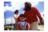 COLOMBIA -  Bogot‡  - quartiere La Cristalina, favelas attorno alla citt‡ -