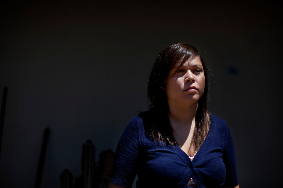 "CREDIT: Daryl Peveto / LUCEO..West Covina, California, May 12, 2010 - A portrait of Andrea Fleytas (cq), the Dynamic Positioning Operator on the Transocean Semi Submersible Exploratory Drilling Platform, Deepwater Horizon, that exploded on April 20 killing eleven contractors, at her mother's home. Fleytas, the only female Transocean employ on the vessel, stayed on for an hour after the explosion trying to right the oil rig. She eventually had to jump into the water and swim for 20 minutes before being rescued. The oil rig sank two days later causing what may be the worst oil spill in the history of oil exploration. Fleytas says she plans on taking a couple of months off to recover but is looking forward to returning to work. Adding, ""This experience has really taught me a lot about myself and how I handle my work."""