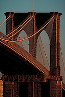 Brooklyn Bridge; New York City, NY, designed by John Augustus Roebling