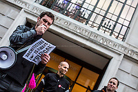 15.10.2015 - Stirling Prize Protest - 'Architecture Is Always Political'
