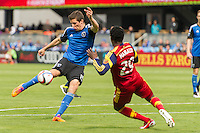 SAN JOSE, CA - April 5, 2015: The San Jose Earthquakes vs Real Salt Lake match at Avaya Stadium in San Jose, CA. Final score SJ Earthquakes 0, Real Salt Lake 1.