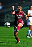 19 September 2010: Colgate University Raider midfielder forward Jillian Kinter, a Sophomore from Newburyport, MA, in action against the University of Vermont Catamounts at Centennial Field in Burlington, Vermont. The Raiders scored a pair of second half goals two minutes apart to notch a 2-0 victory over the Lady Cats in non-conference women's soccer play. Mandatory Credit: Ed Wolfstein Photo
