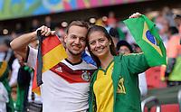 FUSSBALL WM 2014                ACHTELFINALE Deutschland - Algerien               30.06.2014 Deutsch-Brasilianische Fabfreundschaft