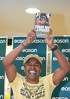 "16/03/2012 Sugar Ray Leonard during a book signing of his autobiography ""The Big Fight"" at Eason's Bookstore, Dublin. Photo:Collins Photos"